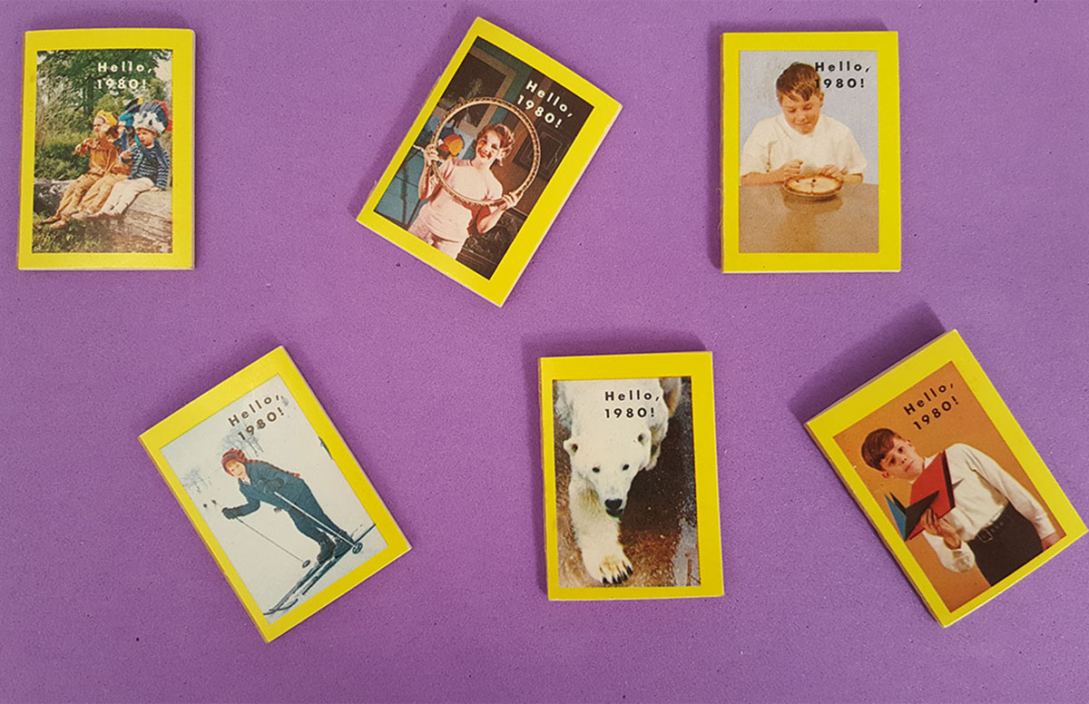 Assorted 1960s Cracker Jack Hello, 1980! miniature books