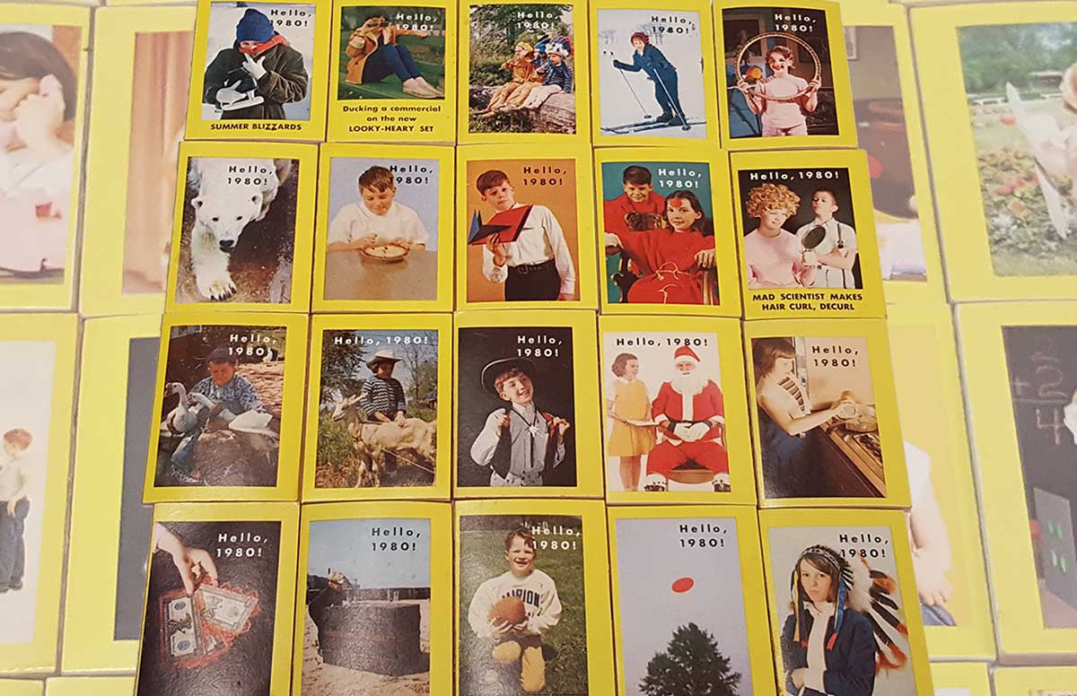1960s Cracker Jack Hello, 1980! Miniature Books - Back Covers