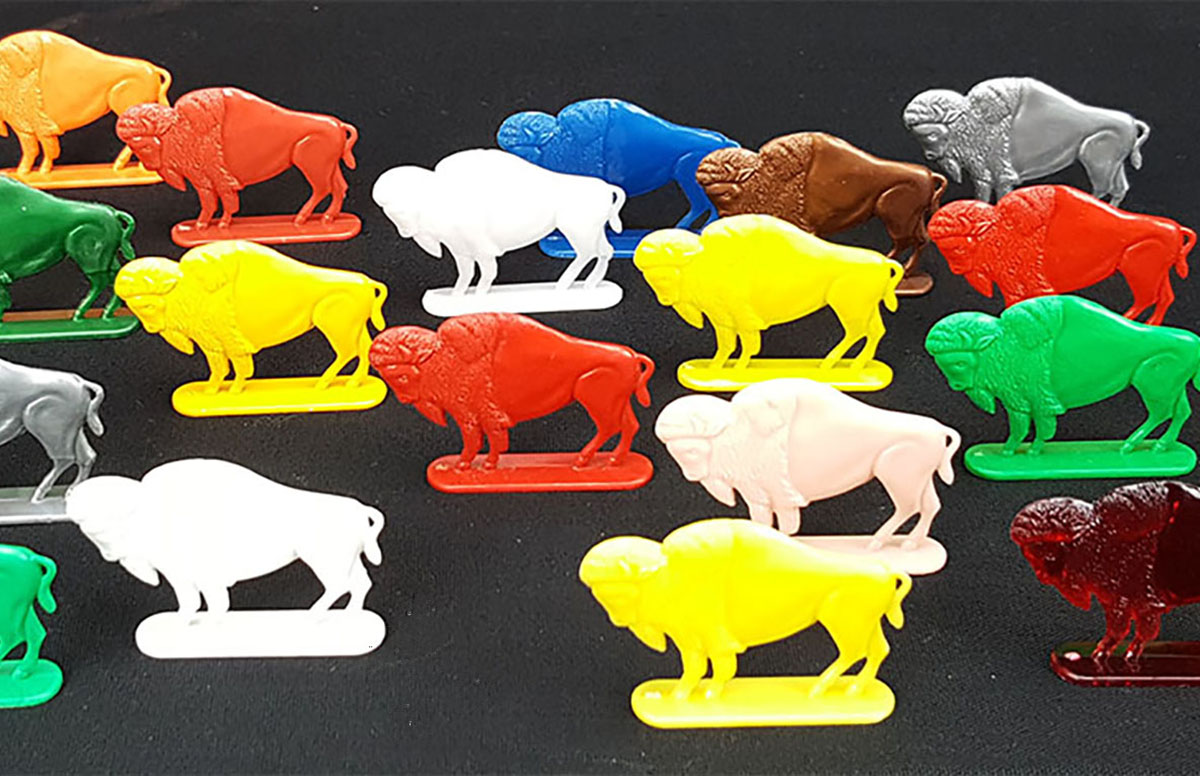 Cracker Jack flat buffalo or bison figures